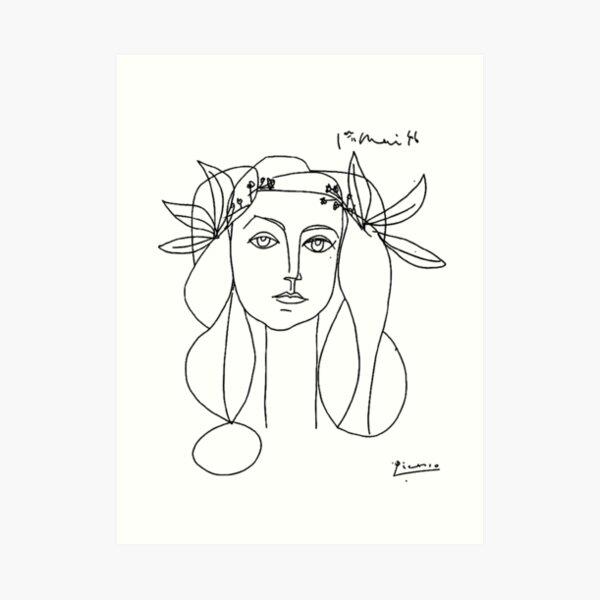 Picasso Kopf einer Frau Kunstdruck