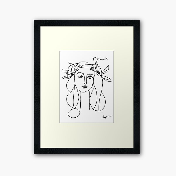 Picasso Head of a Woman Framed Art Print