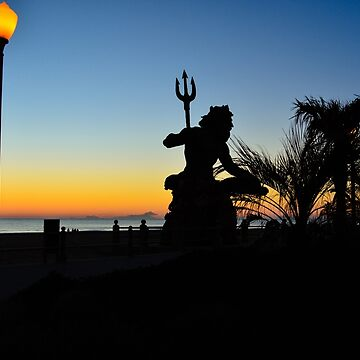 King Neptune Silhouette at Sunrise by lookherelucy