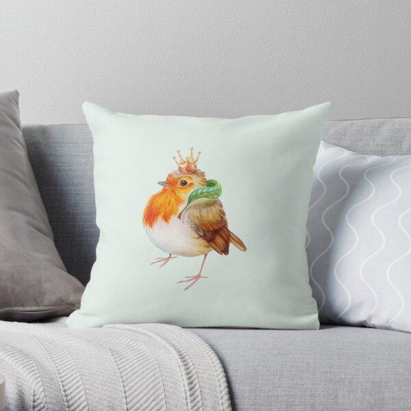 Royal robin by Maria Tiqwah Throw Pillow