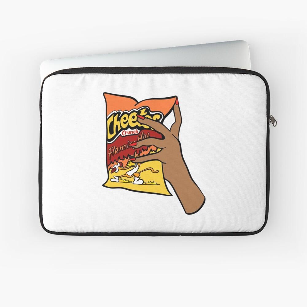 Flammende heiße Cheetos Laptoptasche