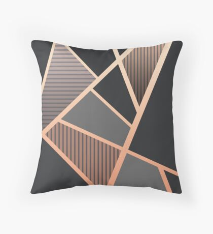 linear structure Throw Pillow