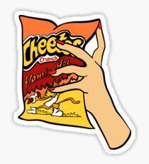 Flammende heiße Cheetos Sticker