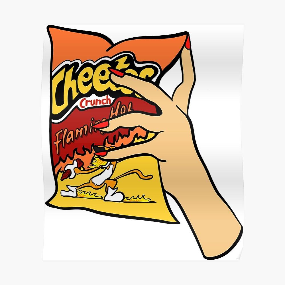 Flammende heiße Cheetos Poster