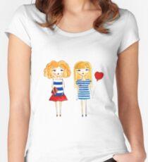 marine girls Women's Fitted Scoop T-Shirt
