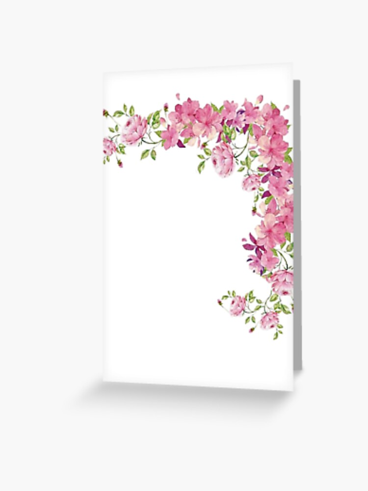 Corner Flowers Greeting Card