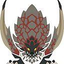 Monster Hunter World Bazelgeuse Icon Design Sticker By Maxxypart Redbubble