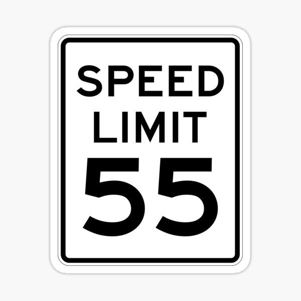 Speed Limit 55 MPH Sign Sticker