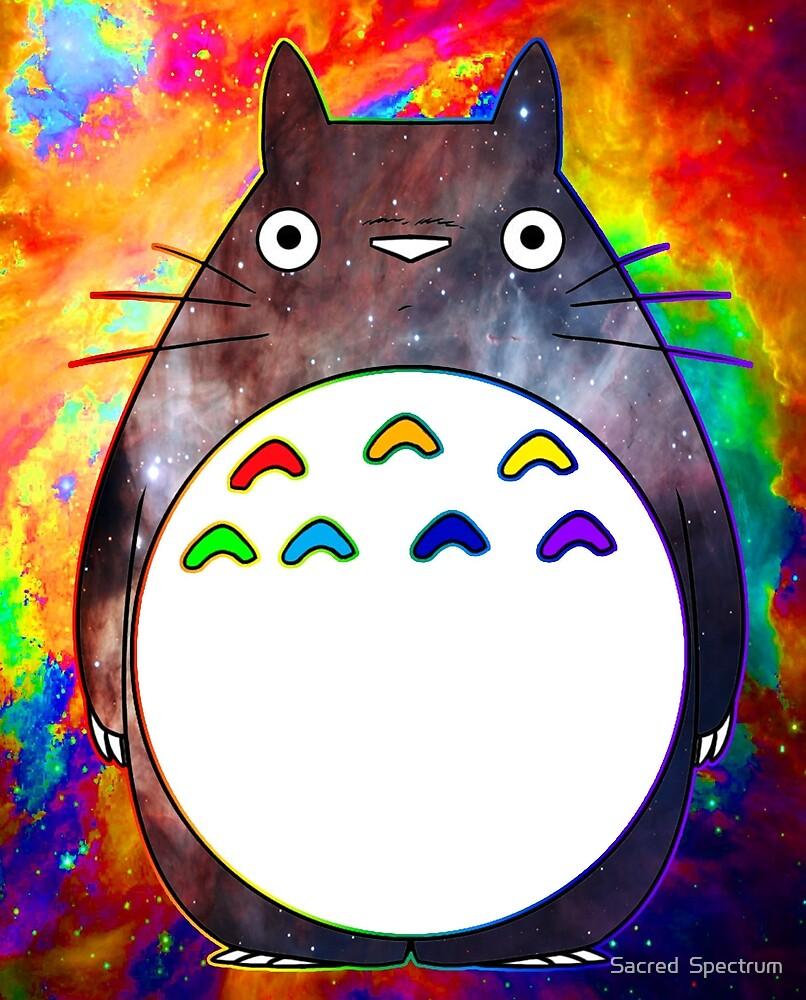 Rainbow Totoro by Sacred  Spectrum