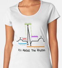 Cardiac ST Segment Rhythm Women's Premium T-Shirt