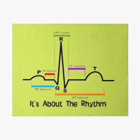 Cardiac ST Segment Rhythm Art Board Print