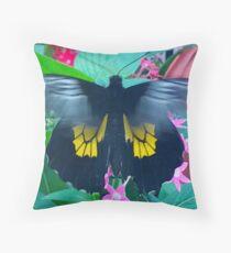"""Fluttering Beauty"", Photo / Digital Painting Throw Pillow"