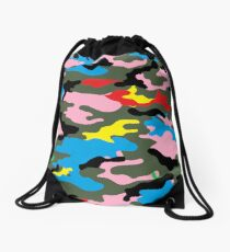 rainbow camo Drawstring Bag