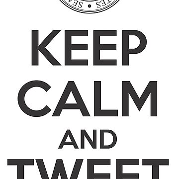POTUS Trump - Keep Calm and Tweet Policy - funny political graphic by andabelart