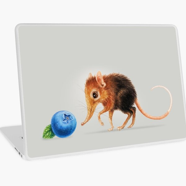 Elephant shrew by Maria Tiqwah Laptop Skin