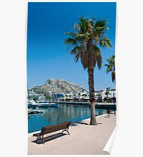 Harbour Bench Poster