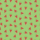 Patterned Watermelons by PikachuRox