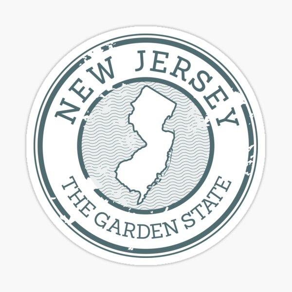 New Jersey - The Garden State (Stamp) Sticker
