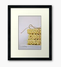 .noodles. Framed Print