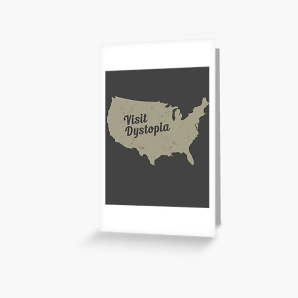 Visit Dystopia: Vintage Look United States Image Greeting Card