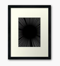 SCREEN TONE- Black flash Framed Print