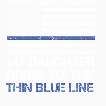 Thin Blue Line Family Shirt   American Flag Proud Daughter by orangepieces