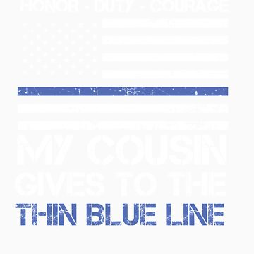 Thin Blue Line Family Shirt   American Flag Proud Cousin by orangepieces