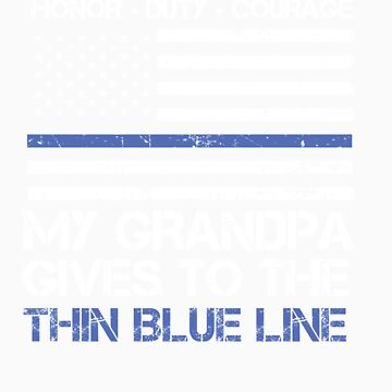 Thin Blue Line Family Shirt   American Flag Proud Grandpa by orangepieces