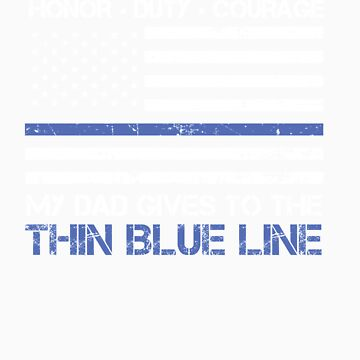 Thin Blue Line Family Shirt   American Flag Proud Dad by orangepieces