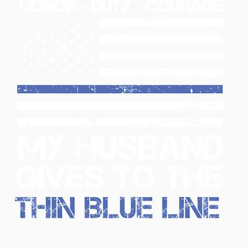 Thin Blue Line Family Shirt   American Flag Proud Husband by orangepieces