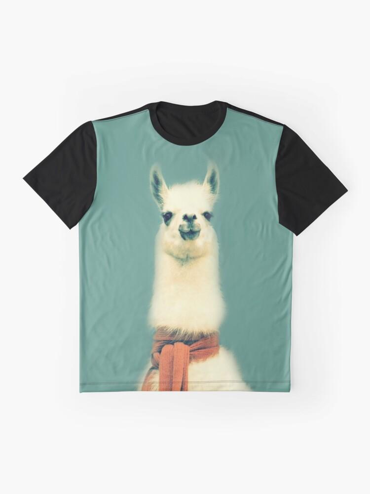 Vista alternativa de Camiseta gráfica Llama