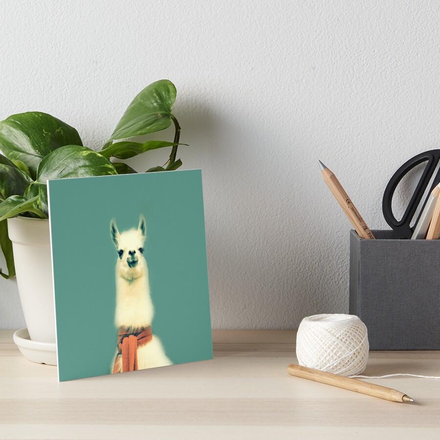 Llama Art Board Print