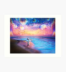 Space Surfer Art Print