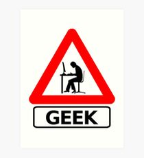 Geek Alert Art Print