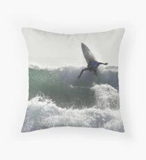Surfing Currarong #2 Throw Pillow