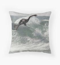 Surfing Currarong #3 Throw Pillow