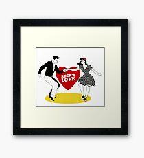 Rock N Roll Love Framed Print