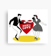 Rock N Roll Love Canvas Print