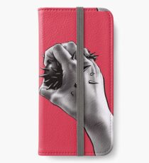 Painful Experiment With Stabbed Hand | Digital Art iPhone Wallet/Case/Skin