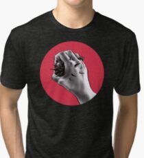 Painful Experiment With Stabbed Hand   Digital Art Tri-blend T-Shirt
