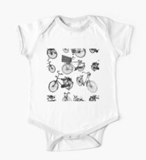Bicycles drawing pattern One Piece - Short Sleeve