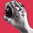 Painful Experiment With Stabbed Hand | Digital Art by Boriana Giormova