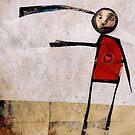 Spit it out. Strange figure fine art illustration. by Robert Johnson