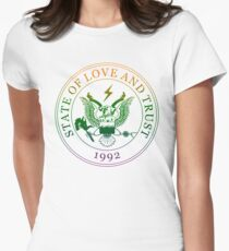 State of Love and Trust Women's Fitted T-Shirt