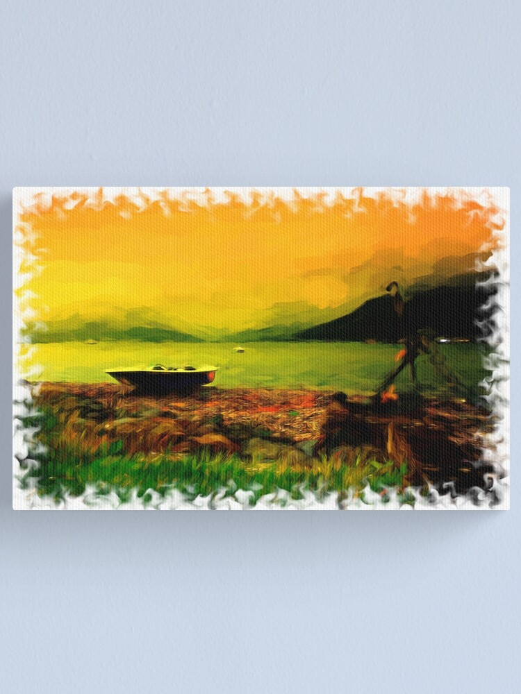 Alternate view of Sunset Over Holy Loch Canvas Print