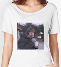 BTS V CHUBBY MEME Women's Relaxed Fit T-Shirt