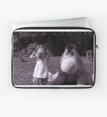 The little girl and the donkey Laptop Sleeve