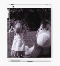 The little girl and the donkey iPad Case/Skin