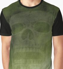 Grunge background with skull Graphic T-Shirt