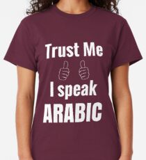 Awesome Arabic Language Speaker Shirt Gift For Men Women Classic T-Shirt